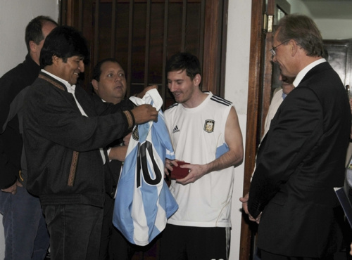 Bolivia's president slams ban for 'best player in the world' Messi