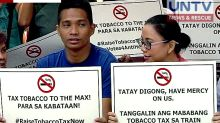 Health advocates urge Duterte to veto tobacco tax rate in TRAIN Bill