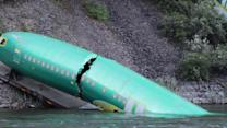 Boeing Jet Fuselages Spill Into Montana River