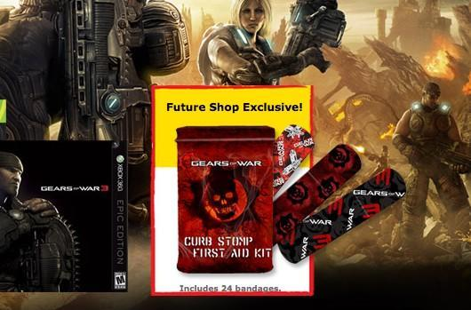 Gears of War 3 preorder comes with bandages at Canada's Future Shop