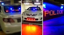 Unmarked Traffic Police cars now equipped with blinkers, sirens