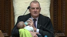 Why this photo of a politician feeding a baby has gone viral