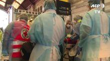 Francia evacuó en tren de alta velocidad a pacientes de la región más golpeada por COVID-19