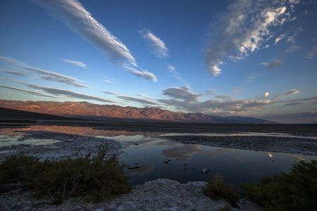 File photo shows Badwater, in Death Valley National Park, at sunrise in California