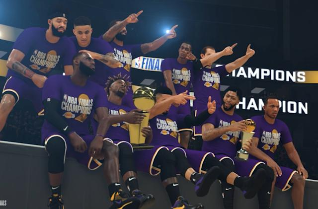 NBA 2K's simulated playoffs crown the LA Lakers champs for 2020