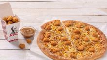 KFC and Pizza Hut create popcorn chicken pizza and the reviews are mixed