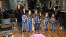 Mom and 6 sons cut their hair, donate it to kids in need
