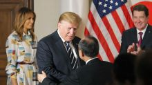 The Latest: Trump, in Japan, needles US ally over trade