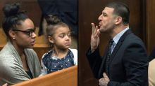 Aaron Hernandez trial: Heartbreaking scene as 4-year-old daughter shows up to court
