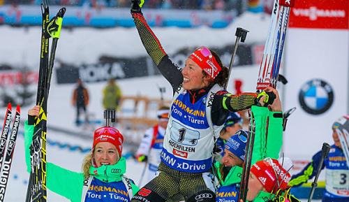 Biathlon: Rekord! Dahlmeier führt Staffel zu Gold - erneuter Schwächeanfall