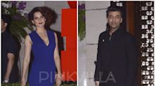 When Kangana Ranaut and Karan Johar avoided each other THRICE on the SAME night! … and Ranbir Kapoor avoided the actress at the AMBANI PARTY!