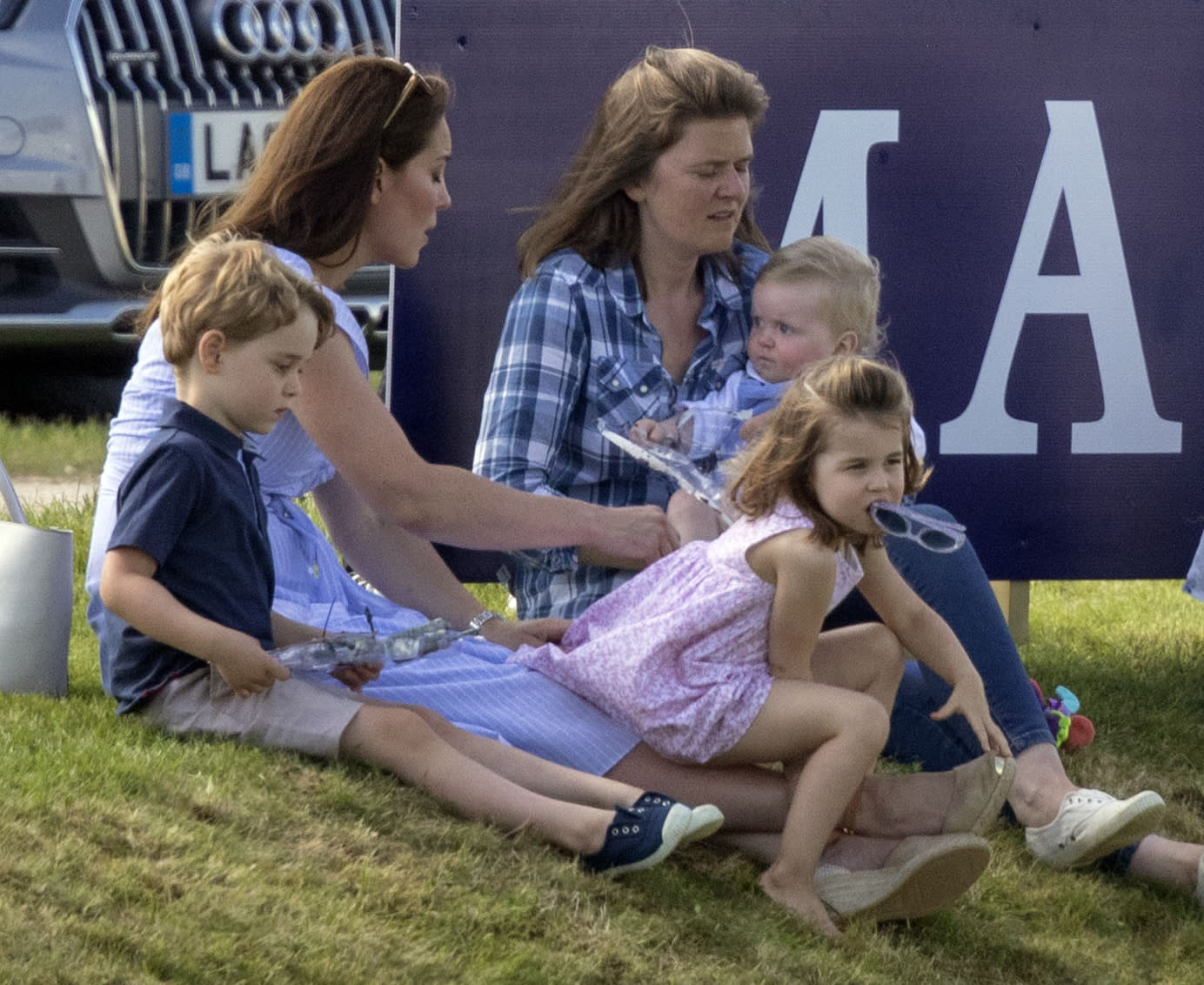 File photo dated 10/06/18 of the Duchess of Cambridge (left) with Prince George and Princess Charlotte, as her husband the Duke of Cambridge takes part in the Maserati Royal Charity Polo Trophy at the Beaufort Polo Club, Downfarm House, Westonbirt, Tetbury.