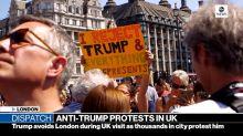 Anti-Trump protests overtake London