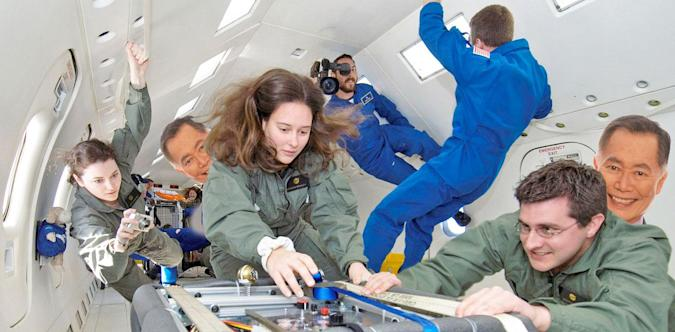 Wanna hang out in zero gravity with George Takei?