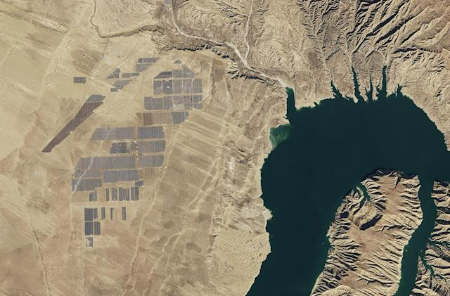 The world's largest solar farm, from space