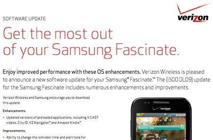 Verizon pushes firmware updates for Droid Pro, Fascinate