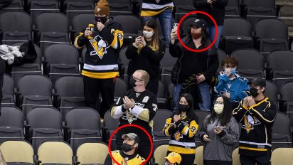 NHL team doctored photo to include masks
