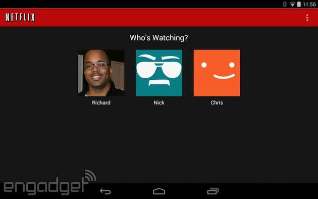 Netflix for Android update brings support for individual profiles and queues, better search