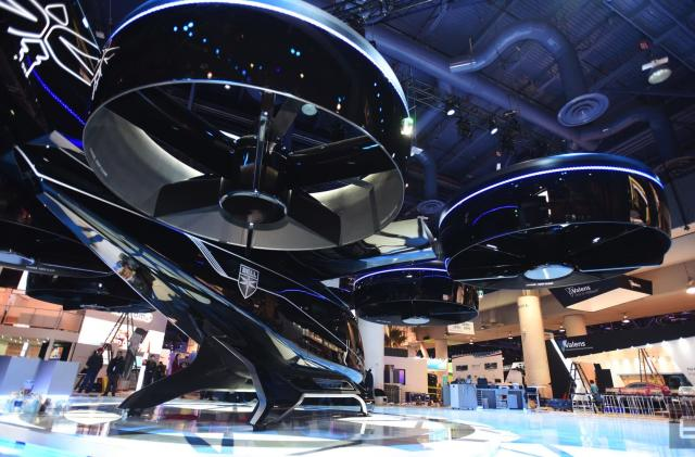 Uber partner reveals air taxi design at CES