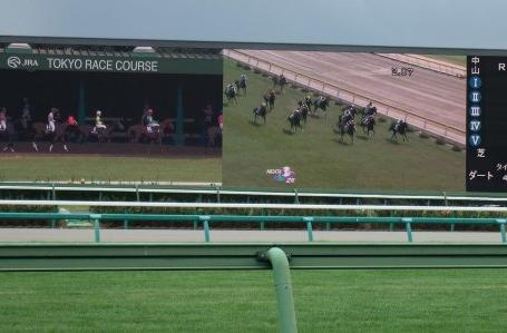 Mitsubishi unveils latest Diamond Vision LED HD screens at Nakayama Racecourse