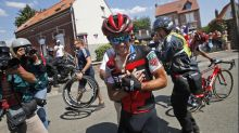 Porte crashes out of Tour a second time