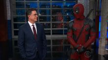 Deadpool skewers Trump after crashing 'The Late Show'