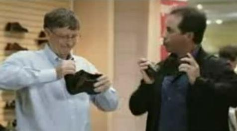 Seinfeld and Gates pair up for intense shoe-fitting session, cryptic advertisement