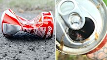 'It felt heavy': Startling find inside Coke can