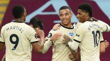 Solskjaer hails fearless Greenwood as Man Utd front three excel after Premier League restart