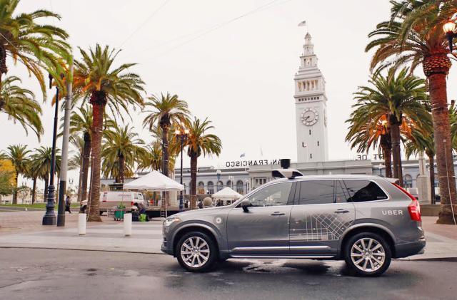 Uber brings its self-driving cars to San Francisco