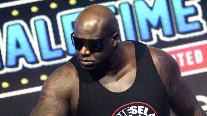 Shaq is flying through tables in AEW
