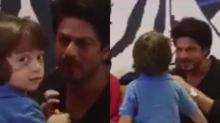 AbRam joins papa SRK for an interview; their bond is unmissable!