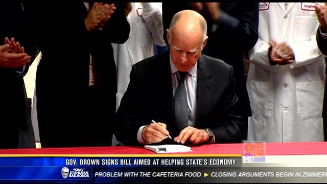 Gov. Brown signs bill aimed at helping state's economy