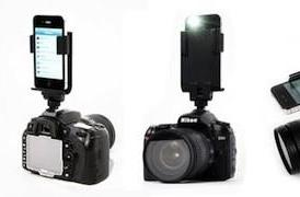 Mount your iPhone in your DSLRs hot shoe dock