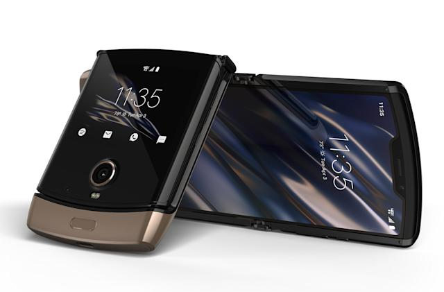 A gold-colored Motorola Razr is coming this spring