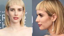 Emma Robertsgets slammed over ultra short blunt bangs