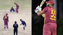 Kieron Pollard makes cricket history with six sixes in one over