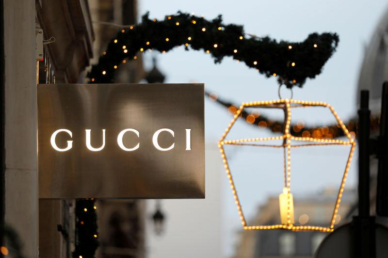 fd4a06be164 FILE PHOTO  A Gucci sign is seen outside a shop in Paris