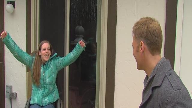 Single mom with cerebral palsy gets new ramp and porch