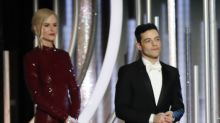 Rami Malek awkwardly snubbed by Nicole Kidman on stage at the Golden Globes
