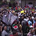 Palestinians protest Trump Middle-East peace plan
