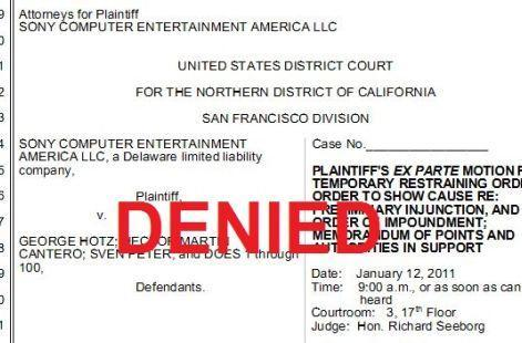 Geohot wins round one against Sony (kinda) -- judge declines to rule on SCEA restraining order (updated)