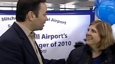 Mitchell Airport Celebrates Record, 8 Millionth Passenger Of Year