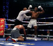 Anthony Joshua gets up off canvas to knock out Wladimir Klitschko at Wembley Stadium