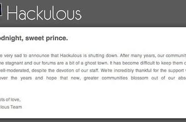 Hackulous iOS app community closes