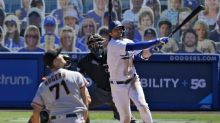 Three-run homers by AJ Pollock and Mookie Betts lift Dodgers late over the Giants