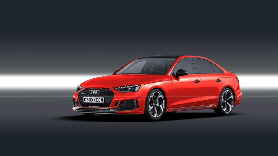 2020 Audi RS4 rendered as M3 rivalling saloon