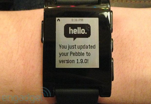Pebble updates smartwatch firmware to version 1.9, improved interface and Snake game in tow