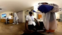 Inside the NBA bubble - Coronavirus test