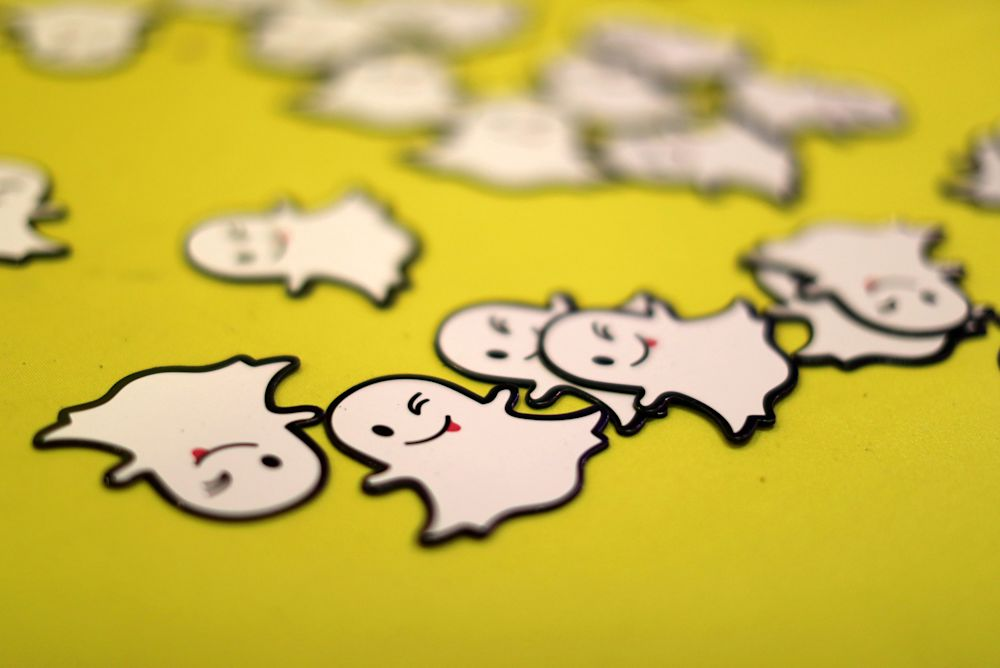The Snapchat logo is seen at a booth at TechFair LA, January 26, 2017. REUTERS/Lucy Nicholson